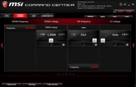 Opciones para la memoria RAM.