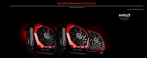 Podremos instalar dos gráficas AMD en Crossfire.