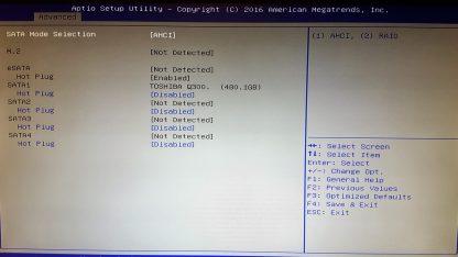 Pestaña de controles avanzados del Shuttle SZ170R8