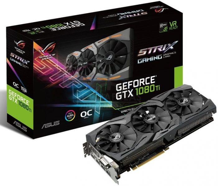 Presentada la gráfica Asus Strix GeForce GTX 1080 Ti