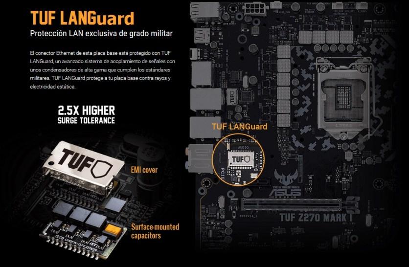 El puerto LAN Gigabit llega protegido contra rayos