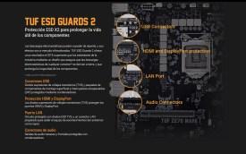 Proteción contra picos de tensión en todos los puertos del panel trasero