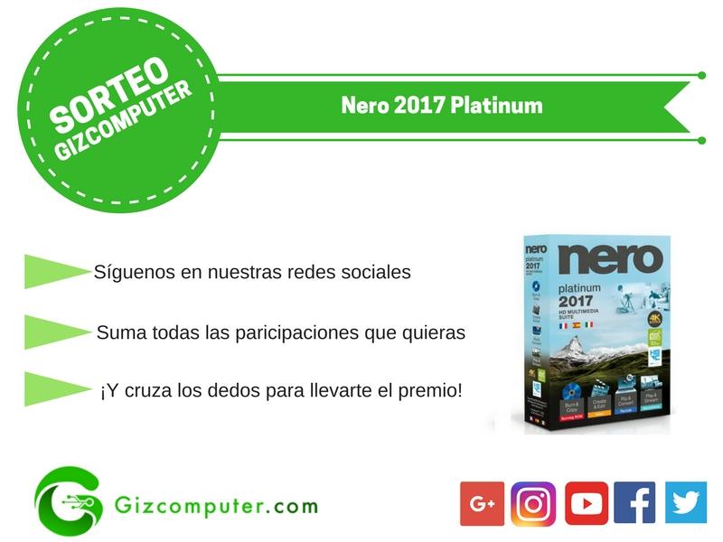 SORTEO: Nero Platinum 2017, llévate un Serial Key gratis [FINALIZADO]