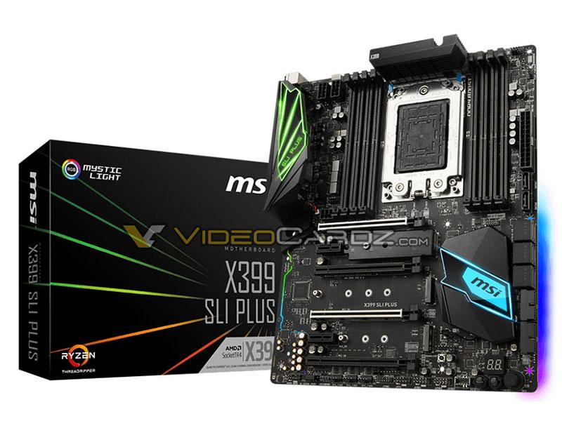 Siguen llegando modelos de placa base para los AMD Ryzen Threadripper, MSI X399 SLI Plus