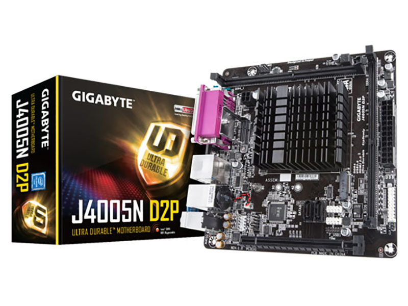 Nueva placa base Gigabyte J4005N D2P con Celeron integrado