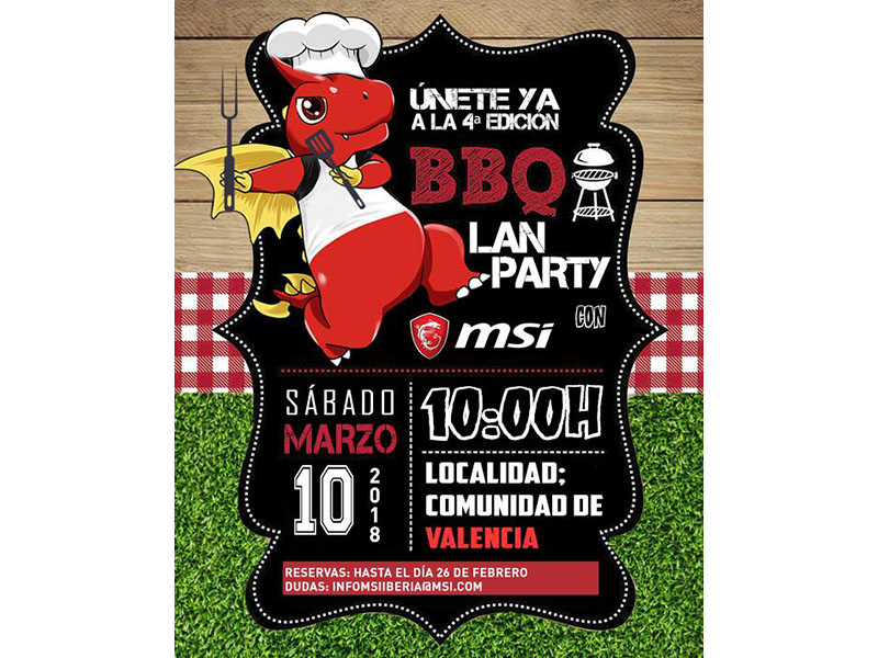 La 4ª BBQ Party de MSI tendrá lugar en la comunidad Valenciana