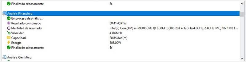 Intel Core i9-7900X Analisis Sandra Platinum 3