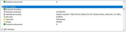 Intel Core i9-7900X Analisis Sandra Platinum 4