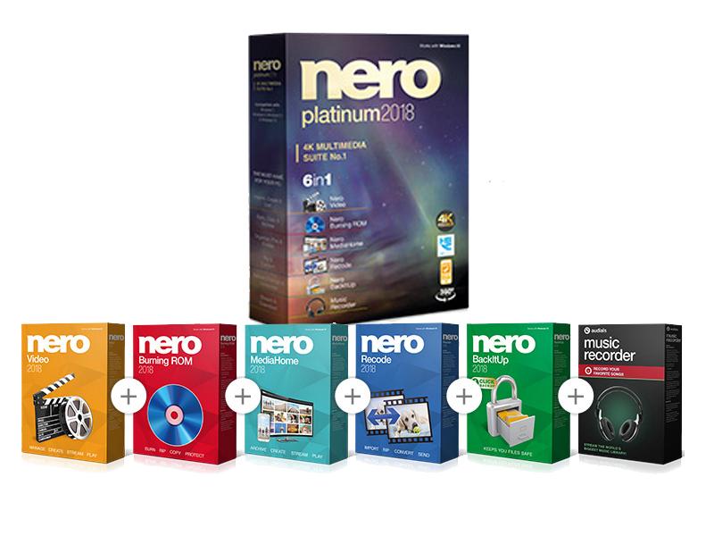 Nero 2018 Platinum, suite completa de grabación y edición