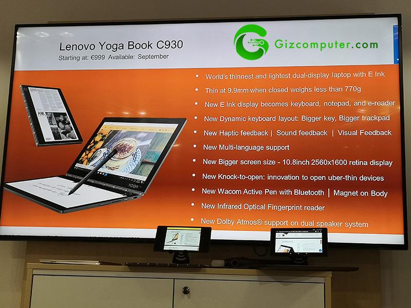 #IFA18: Lenovo Yoga Book C930, doble pantalla y con tinta electrónica