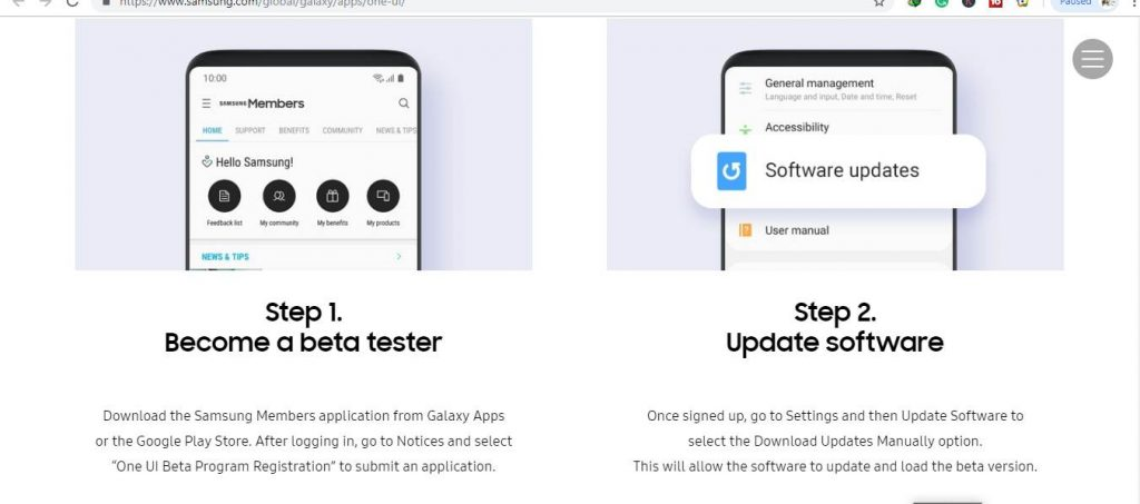 All About Samsung One UI, How To Join Samsung One UI BETA