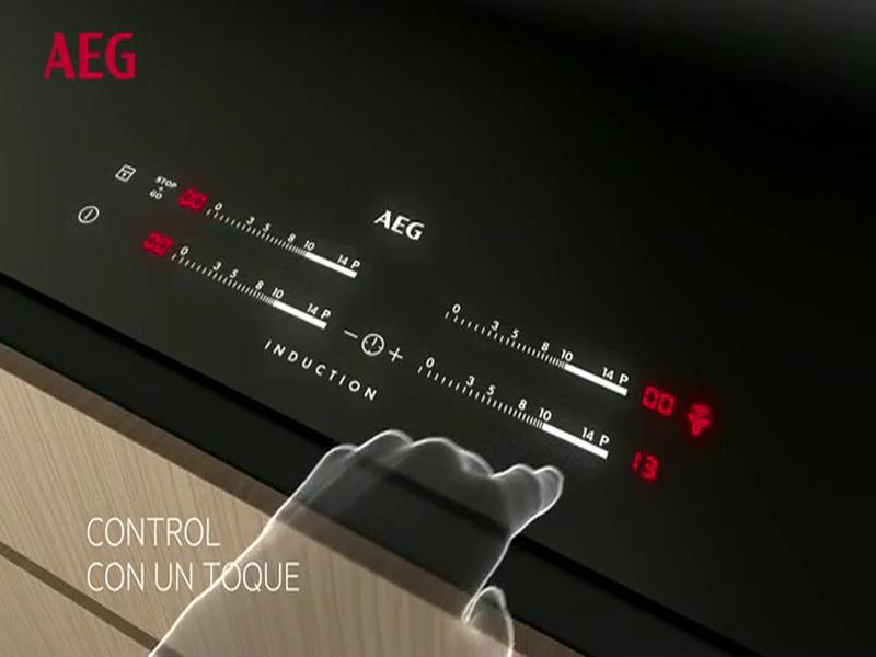 AEG HKL65310FB, placa de inducción con tecnología Hob2Hood