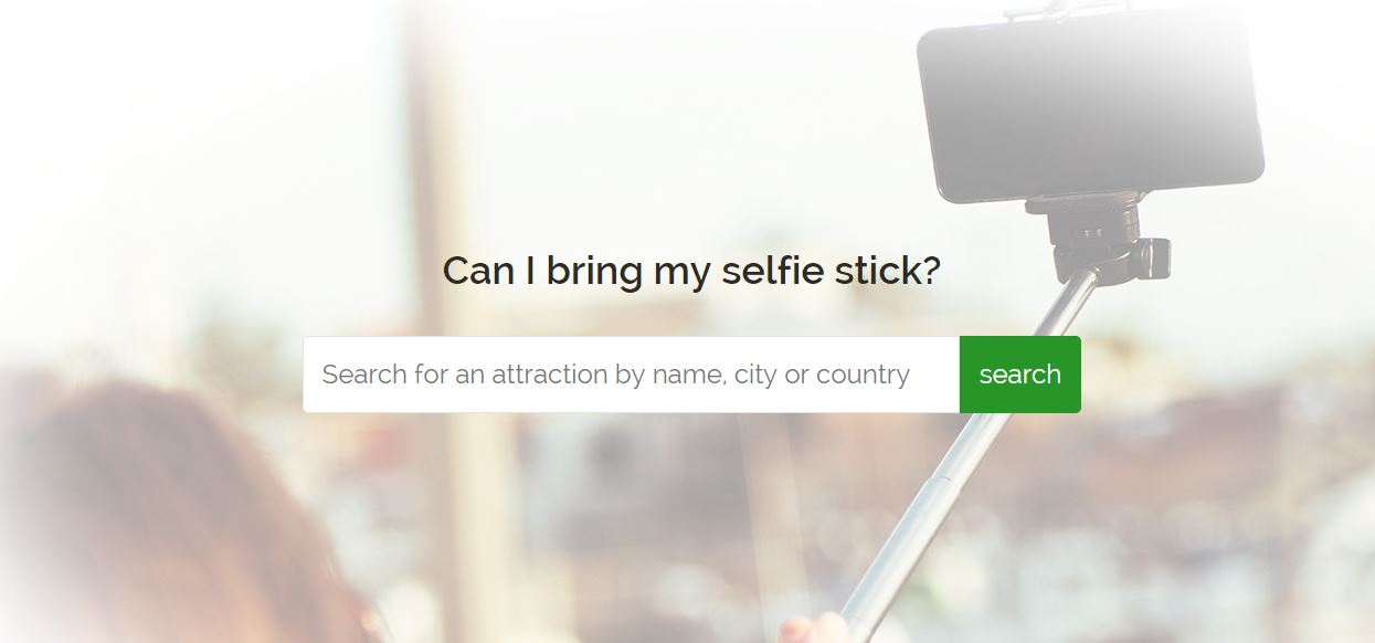 ¿Dónde está prohibido utilizar el palo selfie?