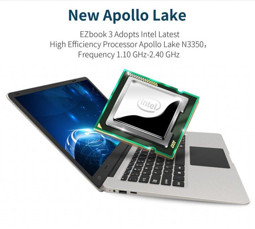 Jumper EZBook 3, procesador