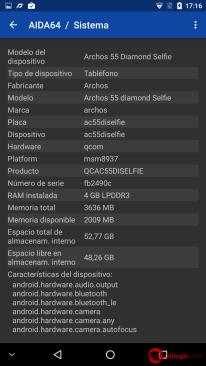 ARCHOS Diamond 5S Selfie