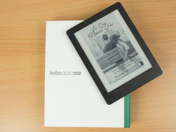 Visualización de portadas en el Kobo Aura H2O Edition 2