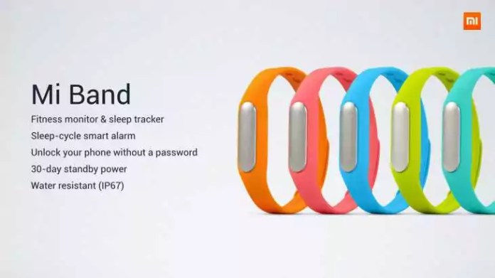 Xiaomi Mi Band Couleurs