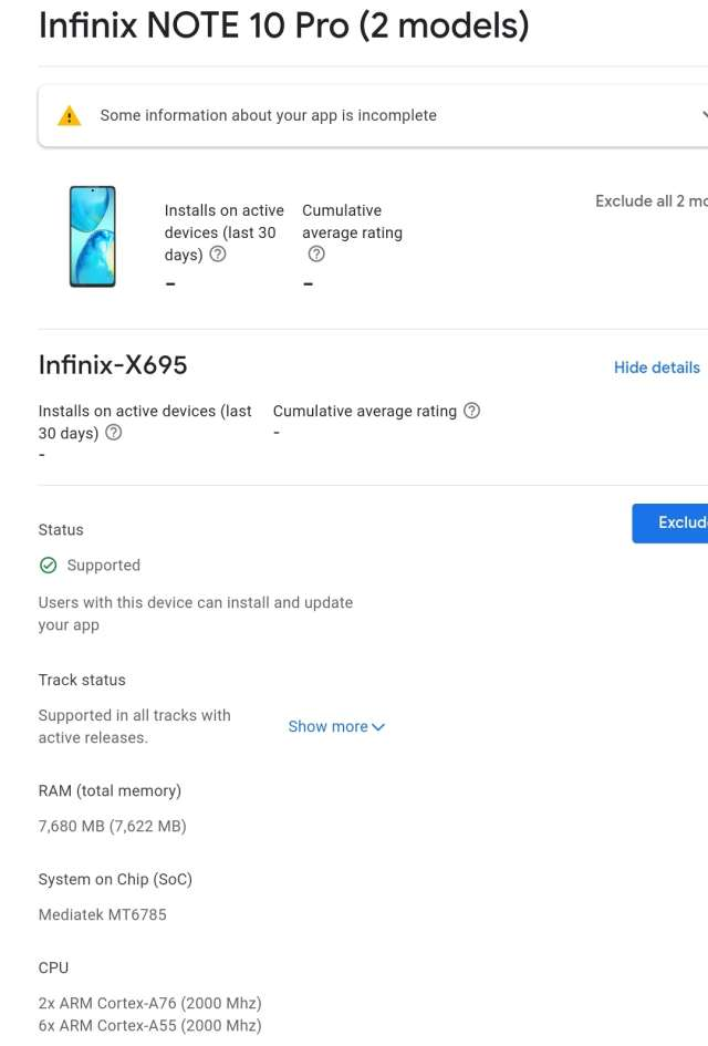 Infinix Note 10 Pro play console gizmoafrica