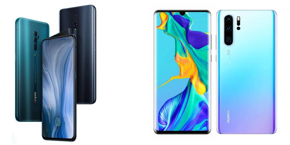 Oppo Reno 10x zoom vs Huawei P30 Pro: Comparação Especificações 1