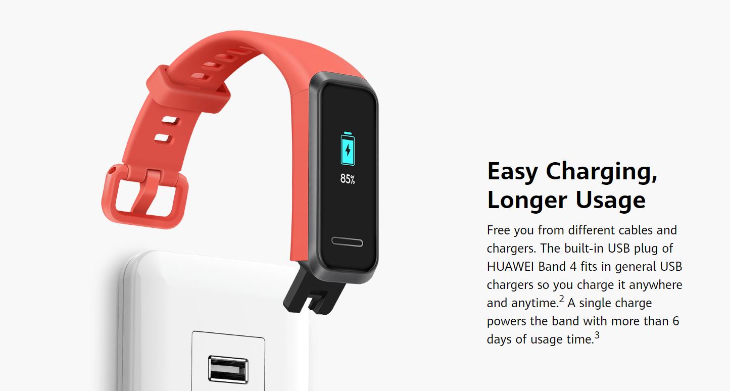 Huawei Band 4 Charging