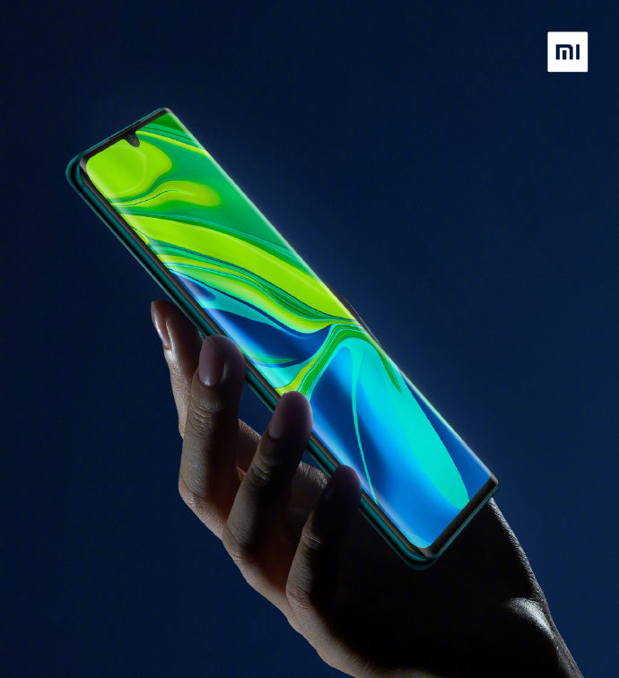 Xiaomi Mi CC9 Pro curved display-