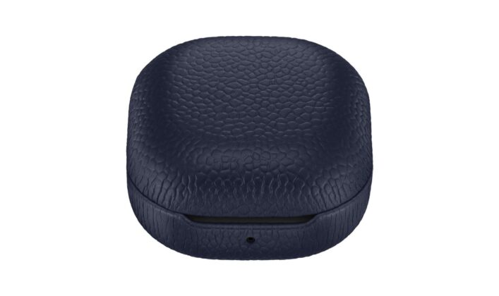 Samsung Galaxy Buds Live Official Leather Case Navy Closed