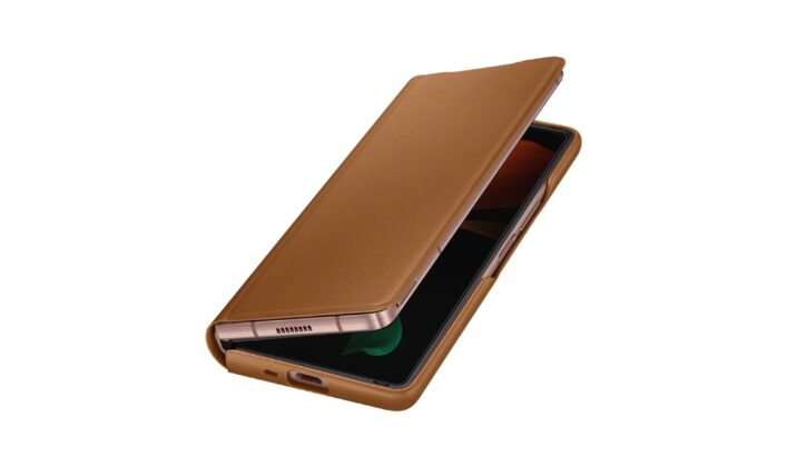 Samsung Galaxy Z Fold 2 Official Leather Case Brown