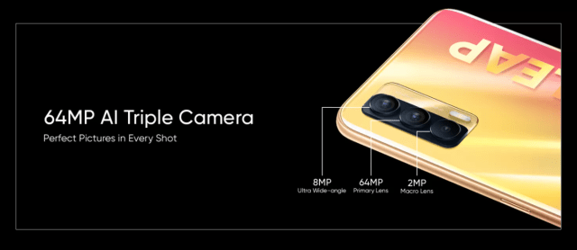Realme X7 5G camera