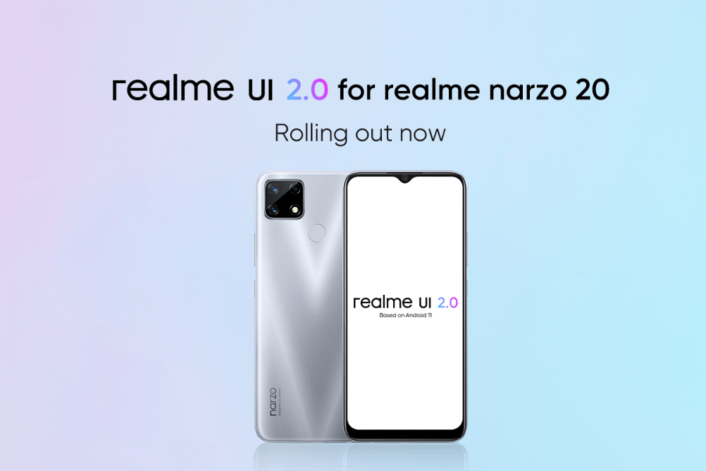 realme narzo 20 relame UI 2.0 Android 11 Stable Update