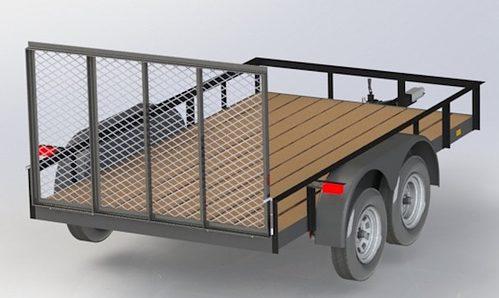 12 ft double axle utility trailer plans
