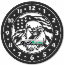 eagle clock dxf download