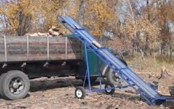 hay bale elevator plans, firewood conveyor plans