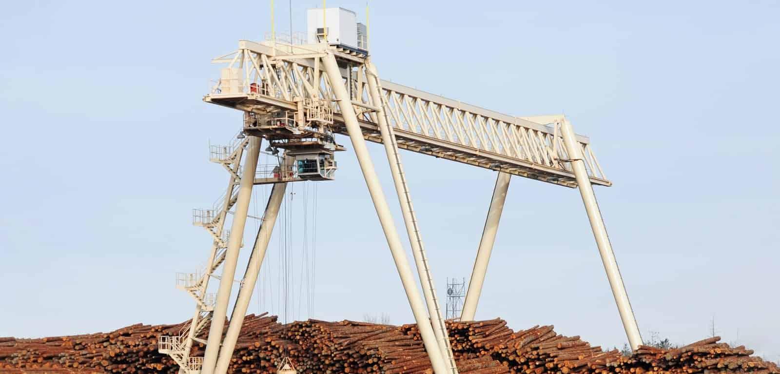Large Gantry Crane at a Lumber Yard