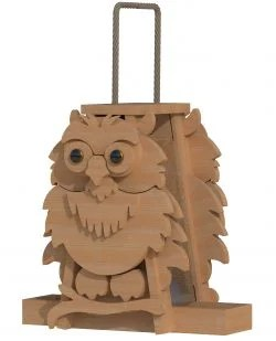 owl bird feeder patterns