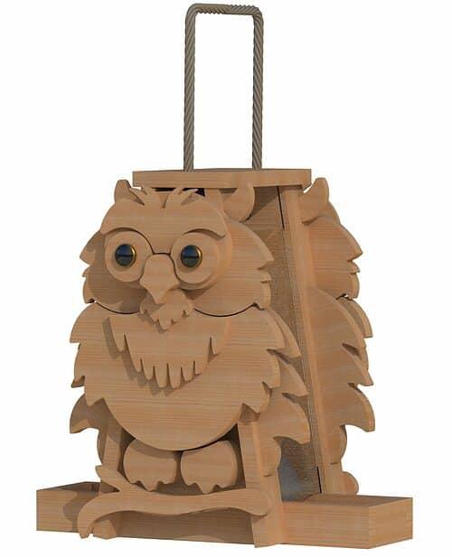owl bird feeder patterns