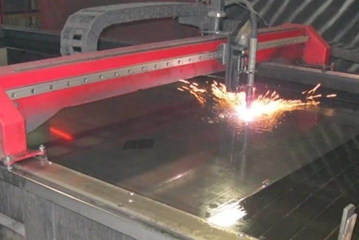 Plasma Cutting Aluminum Over Water