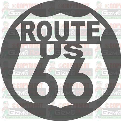 Route 66 DXF Plasma File