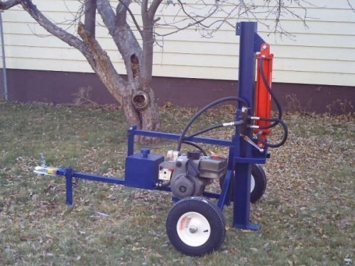 diy vertical log splitter
