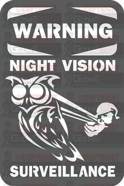 Warning Night Vision Surveillance DXF File