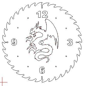 Watch Dragon Dxf Plasma Cut File
