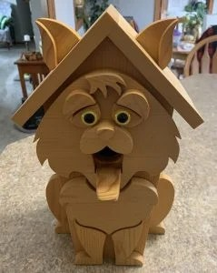 featured view of cat birdhouse woodcraft patterns
