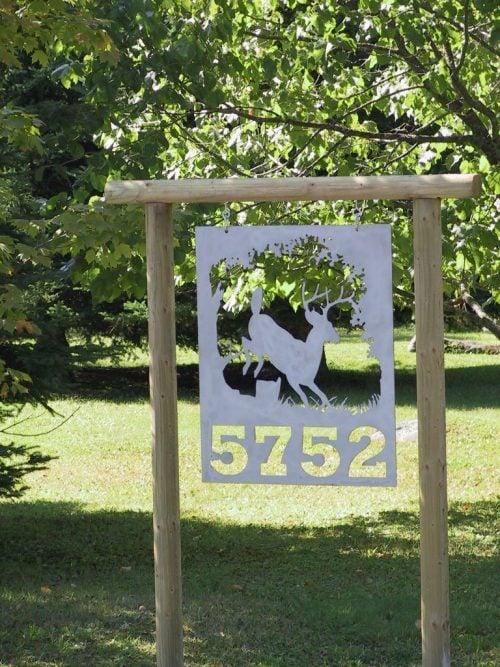 deer sign plasma cut designs