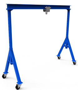 diy gantry crane - adjustable