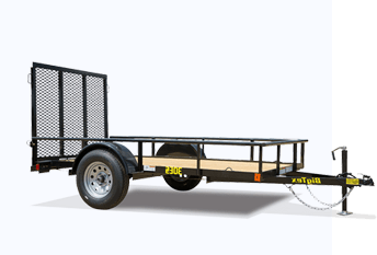 utility trailer with wood flooring