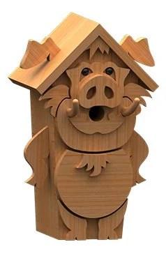 pig birdhouse plans