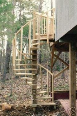 Spiral stairs for your Deck Plans