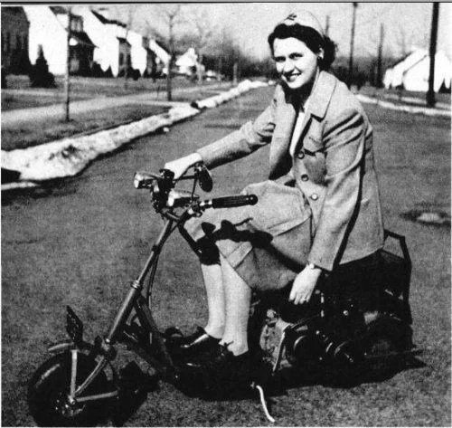 vintage gas scooter plans