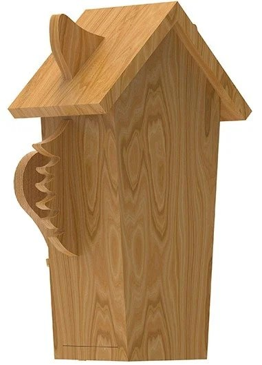 back view of wolf birdhouse plans