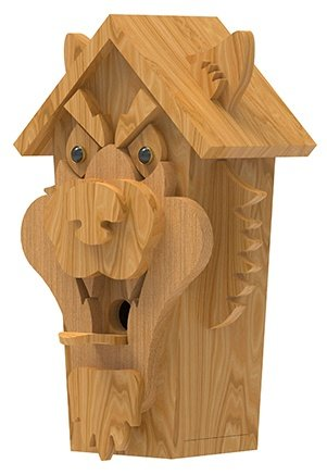 left view of wolf birdhouse plans