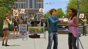 The Sims 3: University Life Protest